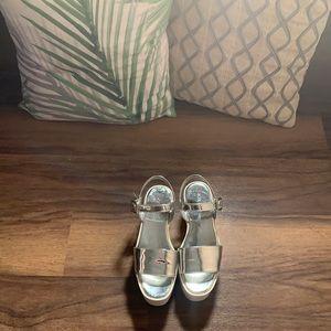 Silver Platform Sandal